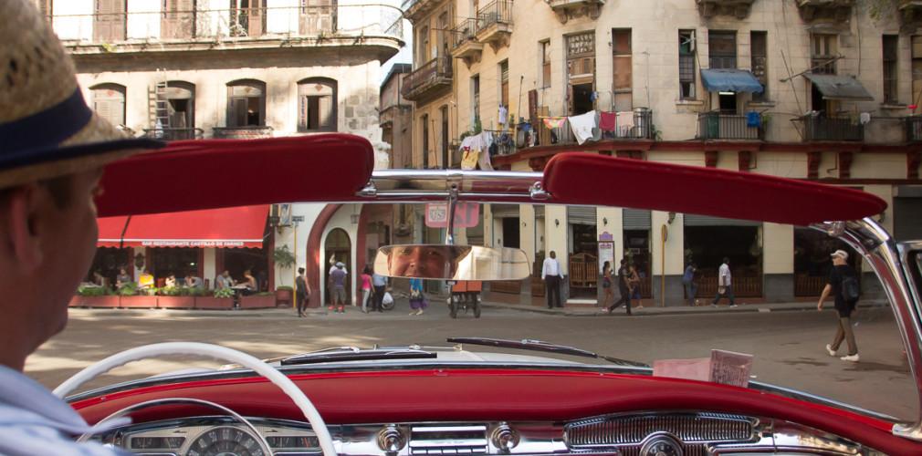 fabio in our classic car in havana