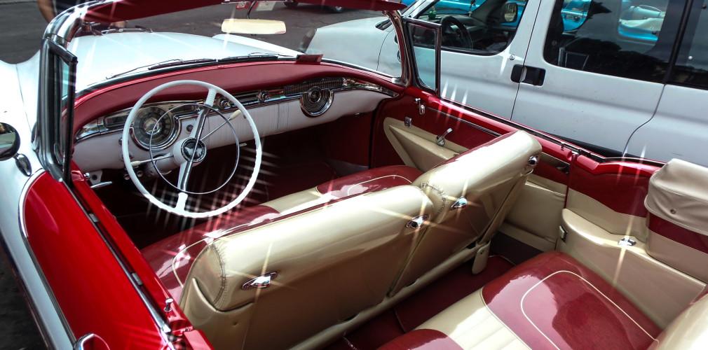 interior. havana classic car